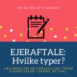 Ejeraftale dokument guide: iværksætter ejeraftale og investor ejeraftale