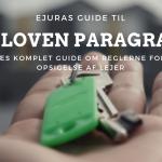 Opsigelse af lejer paragraf 83 guide