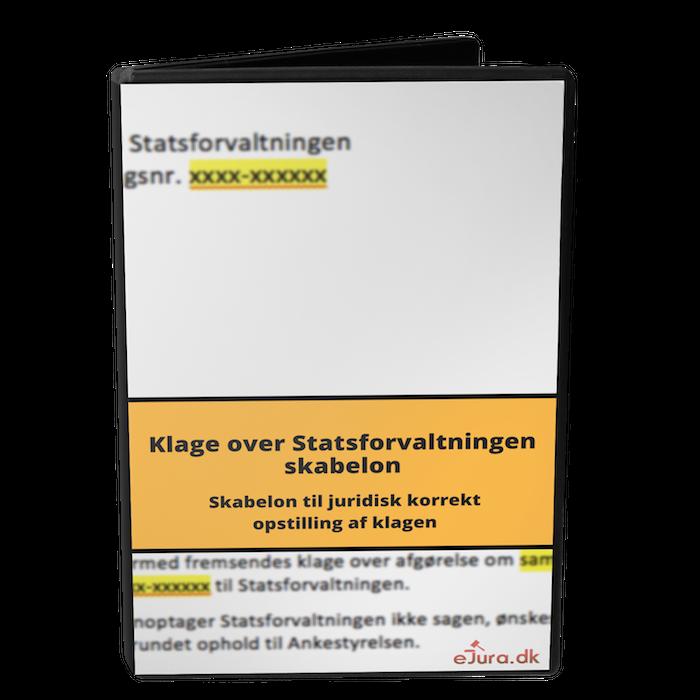 Klage over Statsforvaltningen skabelon