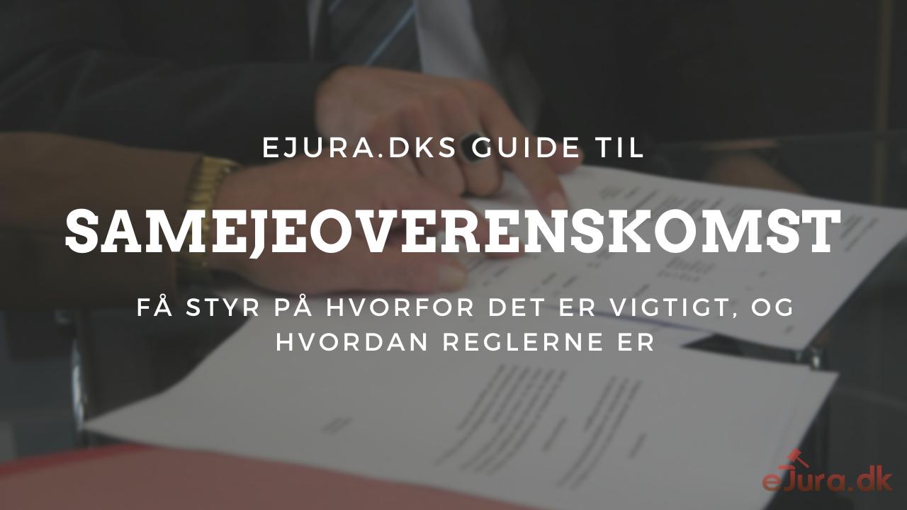 Samejeoverenskomst ejura.dk