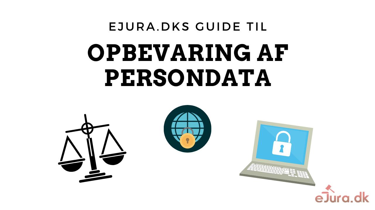 Opbevaring af persondata og personoplysninger